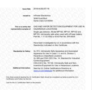 UNI Maintenance-Free certified by UL